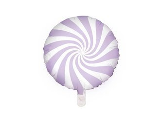 Balon foliowy Cukierek - 35 cm - jasny liliowy