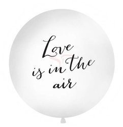 Balon 1 m - Love is in the air - biały