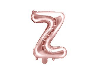 """Balon foliowy Litera """"Z"""" - 35 cm - różowe złoto"""