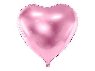 Balon foliowy Serce - 61 cm - jasny róż