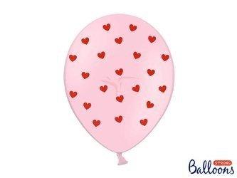Balony 30 cm - Serca - Pastel Baby Pink - 50 szt.