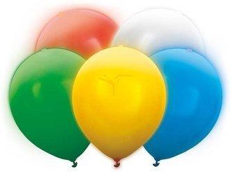 Balony Led 30 cm - mix kolorów - 5 szt.