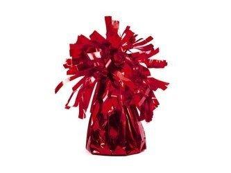 Ciężarek do balonów foliowy - czerwony - 4 szt.