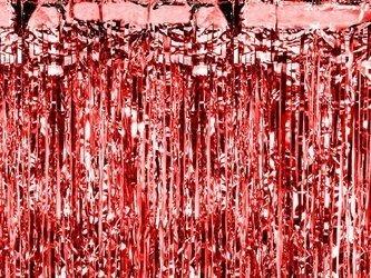 Kurtyna Party czerwona - 90 x 250 cm
