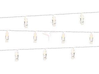 Lampki LED, 10 klamerek, bezbarwny, 1,4m