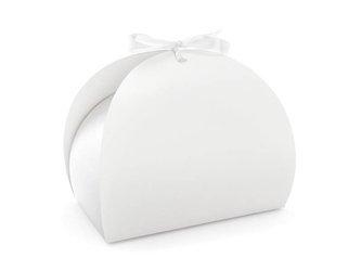 Pudełko na ciasto - 16,5 x 14 x 9,5 cm - białe - 10 szt.