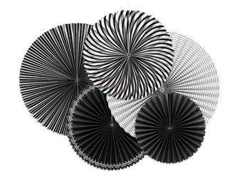 Rozety dekoracyjne czarnobiałe - Black&White mix - 5 szt.