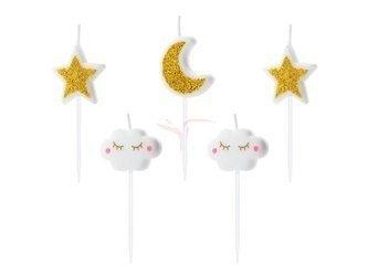 Świeczki urodzinowe Little Star mix - 2-3 cm - 5 szt.