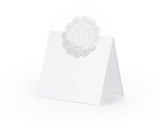 Wizytówki na stół Rozeta - 6,3 x 6 cm - 10 szt.