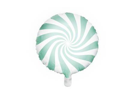 Balon foliowy Cukierek - 35 cm - miętowy
