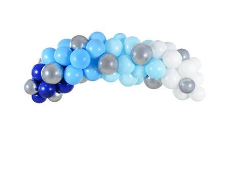 Girlanda balonowa - 200 cm - niebieska - 60 szt.