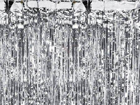 Kurtyna Party srebrna - 90 x 250 cm