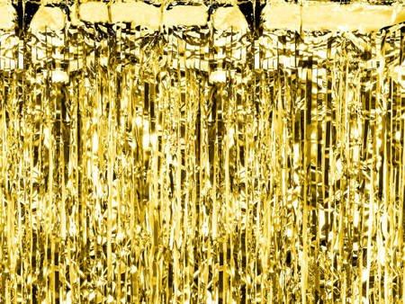Kurtyna Party złota - 90 x 250 cm