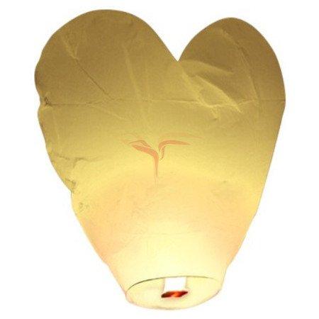 LAMPION SERCE - Biały - LAM002B - Triplex - 1 szt.