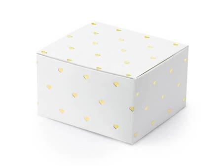 Pudełeczka Serca - 6 x 3,5 x 5,5 cm - białe - 10 szt.