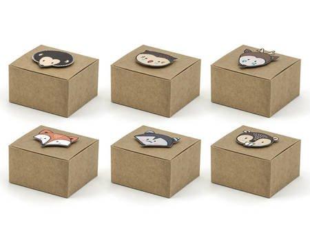Pudełeczka Woodland - 6 x 5,5 x 3,5 cm - 6 szt.