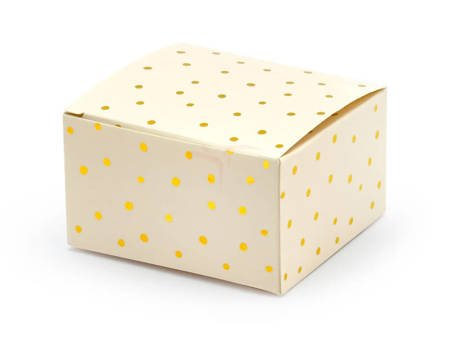 Pudełeczka w Kropki - jasna brzoskwinia - 6x3,5x5,5 cm - 10 szt.